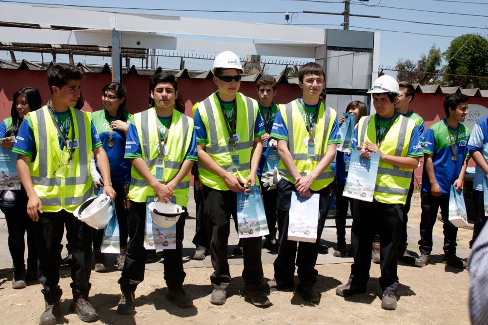 Primer lugar: Instituto Cumbre de Cóndores de Renca: Brayan Fuentes, Kevin Vidal, Ignacio Salazar, David Monsalva e Ignacio Villalobos.