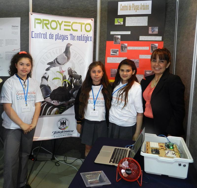 Control de Plagas / Colegio Alemán: Dispositivo que detecta la presencia de palomas en un sector del colegio y acciona un sistema que logra espantarlas del sector