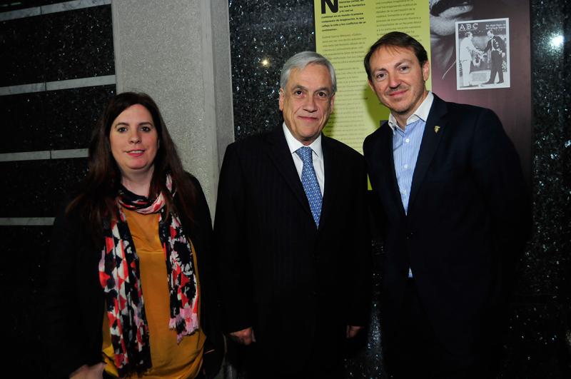 Judit Arteaga, Sebastián Piñera y Santiago Vivanco.