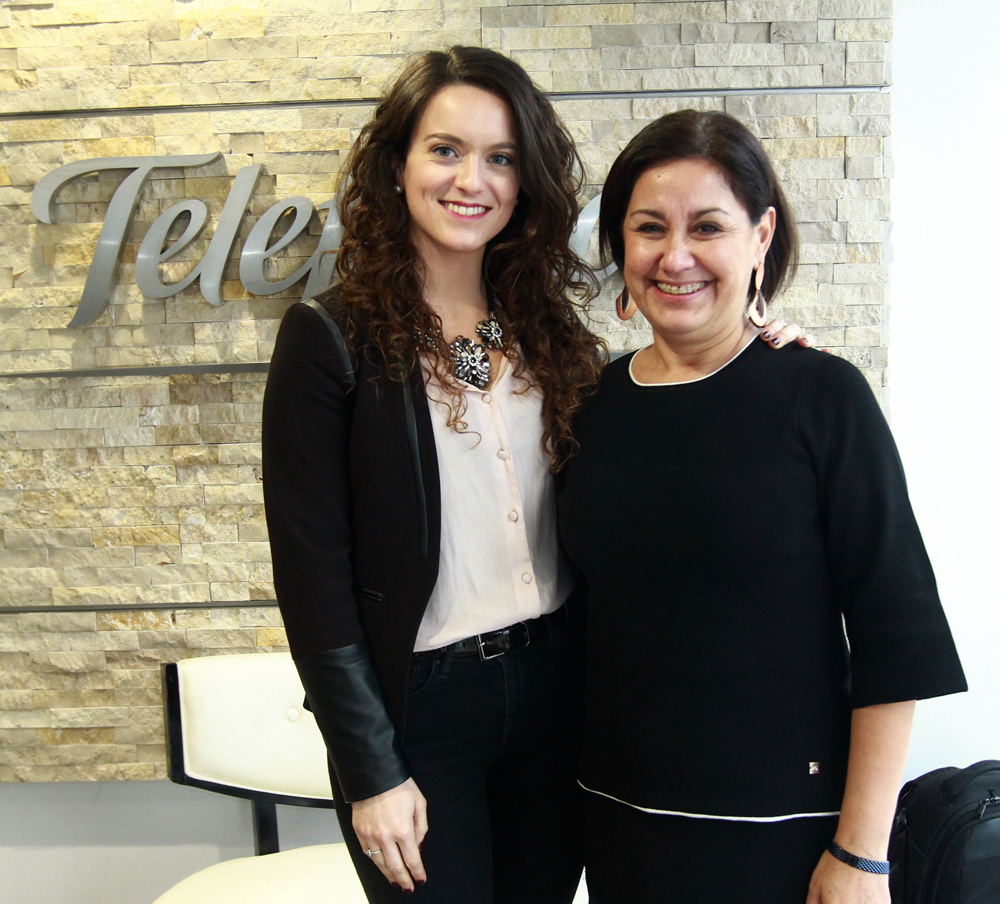 Valentina Ilic, jefa Programa contra el Trabajo Infantil de la Subsecretaría del Trabajo, y Angélica Alarcón, gerenta de Fundación Telefónica.
