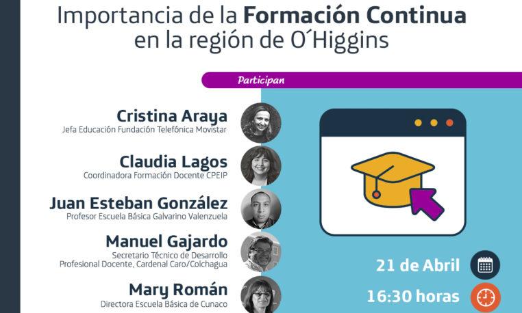 FUNDACIÓN TELEFÓNICA MOVISTAR Y SEREMI DE EDUCACIÓN O'HIGGINS IMPULSAN 'FORMACIÓN CONTINUA' DE DOCENTES