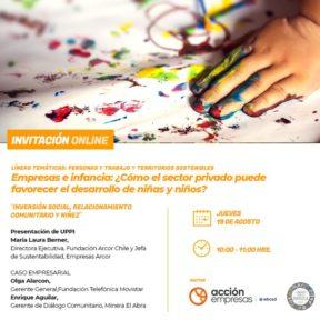 Participa del Seminario sobre Inversión Social y Relacionamiento Comunitario con impacto en la niñez